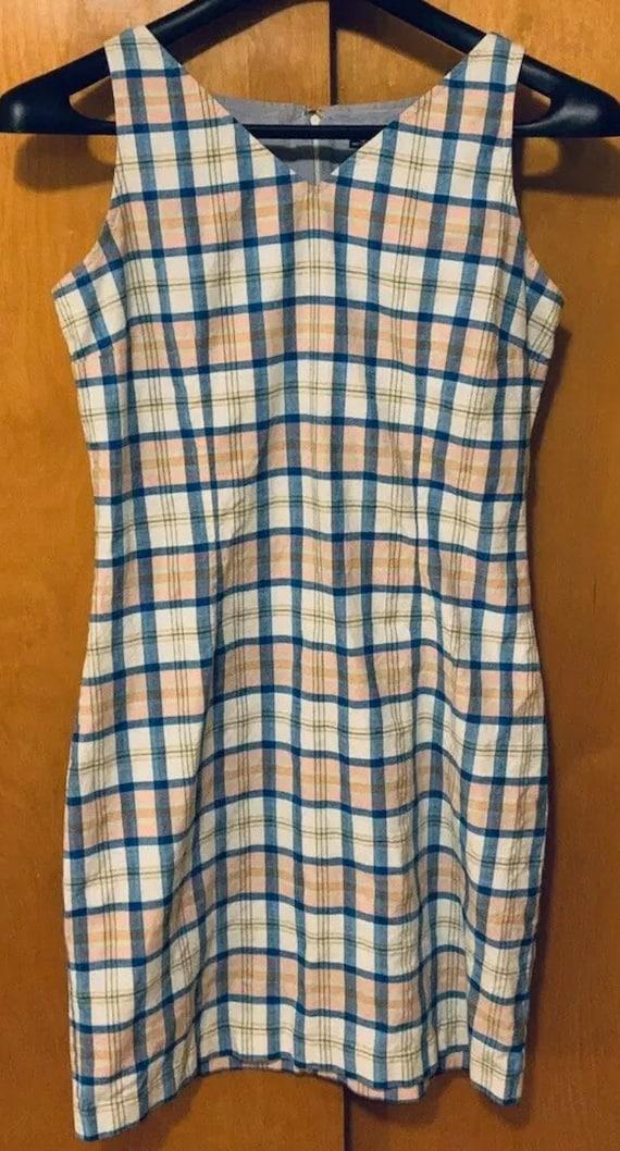 Vintage 1990's Tommy Hilfiger Madras Plaid Sleevel