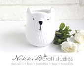 Polar bear container, polar bear planter, polar bear gifts, plant pot, polar bear pot, polar beare decor, white bear, baby shower gift