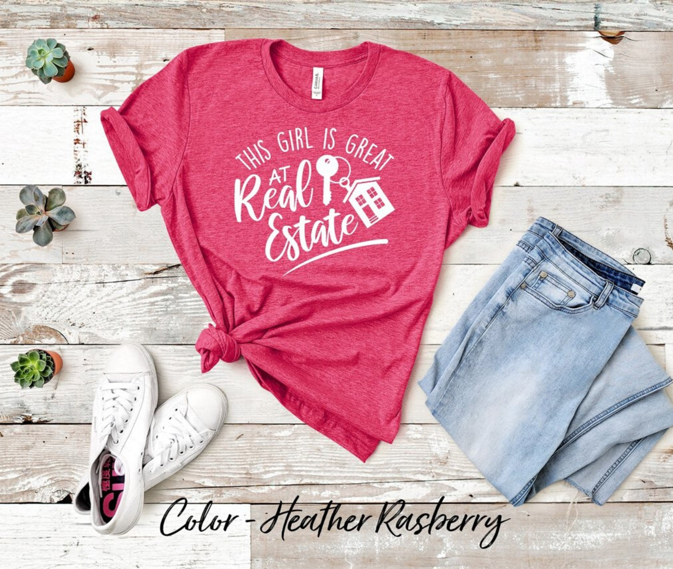 Real Estate Agent T-shirt This Girl Is Great At Real Estate Shirt. Real Estate T-shirt Perfect Shirt For Real Estate. Closing Gift. Hoodie Tshirt