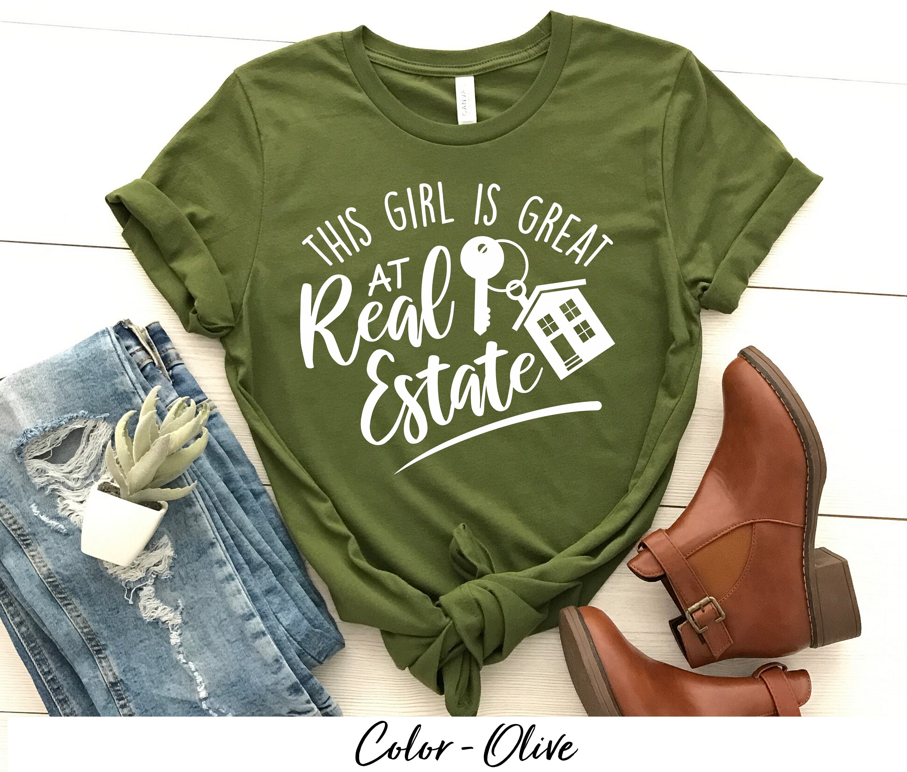 Real Estate Agent T-shirt This Girl Is Great At Real Estate Shirt. Real Estate T-shirt Perfect Shirt For Real Estate. Closing Gift. LongSleeve Tee