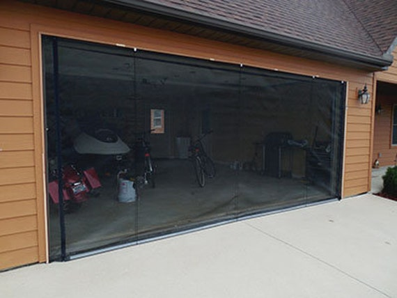 Zip Roll Brand 10x8 Garage Door Roll Up Screen Etsy