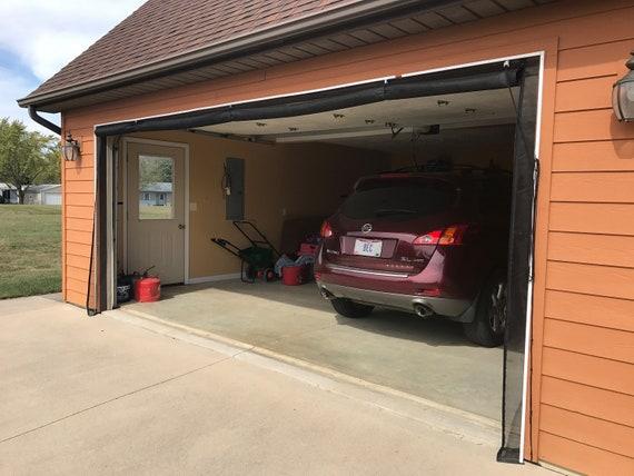 Zip Roll Brand 12x7 Garage Door Roll Up Screen Etsy