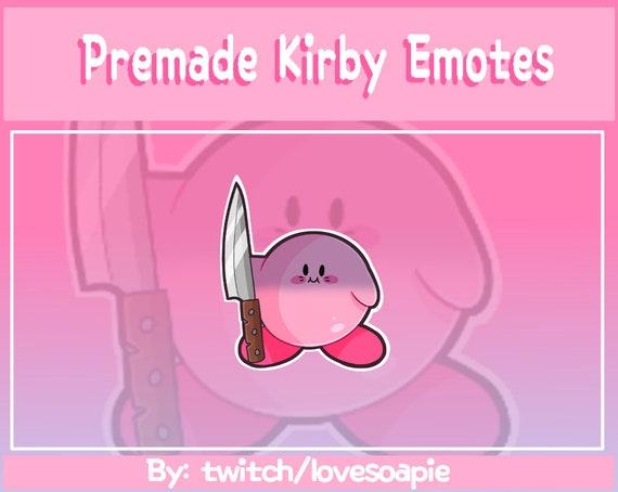Premade P2u Knife Kirby Twitch Emote Discord Yandere Kawaii Etsy Kirby plush with a knife : premade p2u knife kirby twitch emote discord yandere kawaii cute nintendo