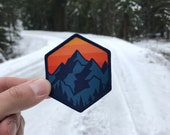 Mountain Sunrise Patch DIY Iron On Sew On for Adventure Seekers. Wander Patch, Hiking, Mountain Badge, Traveler