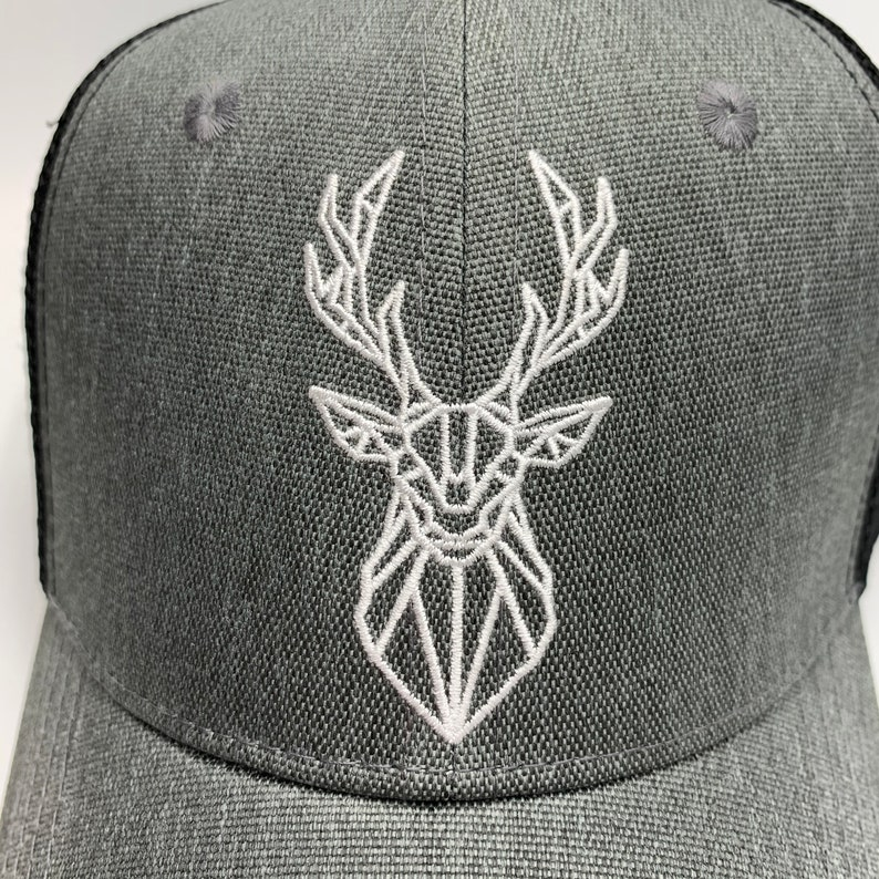 Custom Trucker Hat Embroidered Hat PNW Hat Deer Hunting Hat