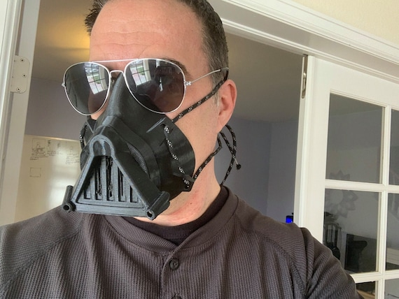 Darth Vader Style Filter Face Mask from Star Wars 3D printed | Etsy