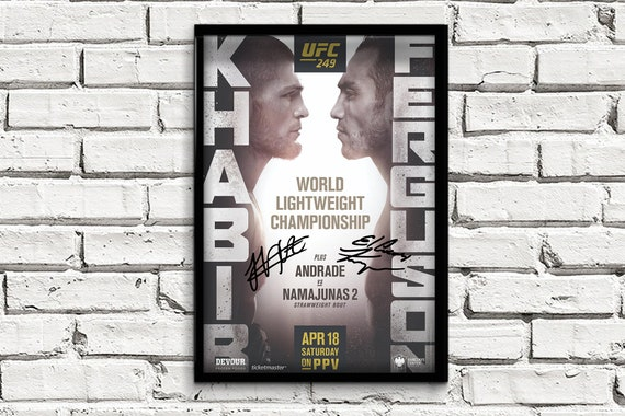 UFC 249 Khabib Nurmagomedov vs Tony Ferguson PHOTO Print POSTER Fight MMA 2020