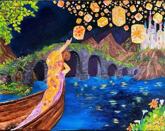 Tangled Painting Etsy