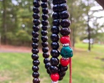 """Free Black Buffalo Bone Beaded Tassel Necklace, 18"""", NEW. you pay only my cost plus shipping and handling 9.99"""