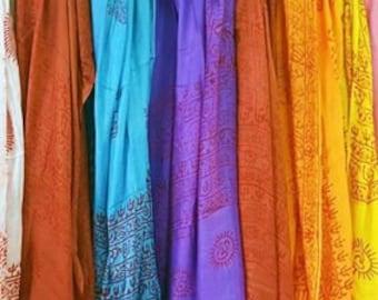 Om Meditation Prayer Shawl Scarves In Chakra Balancing Colors