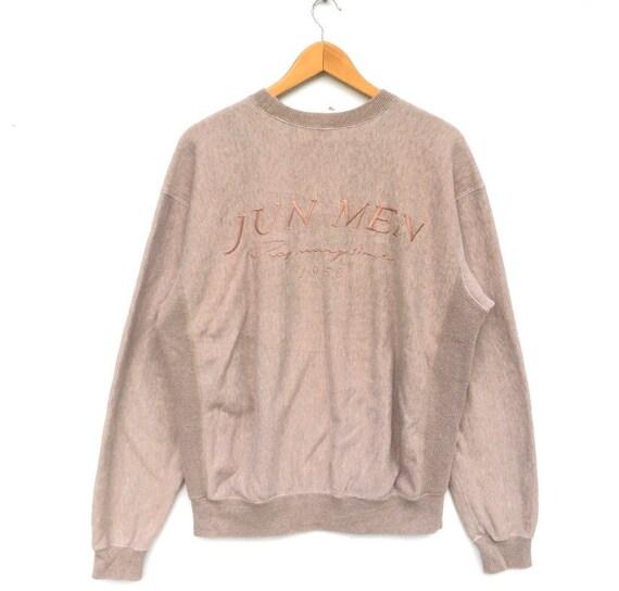 Jun Men Beige Pullover Sweatshirt