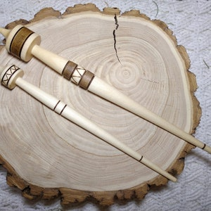 Spindle for Spinning Natural Siberian Cherry Wood #B19