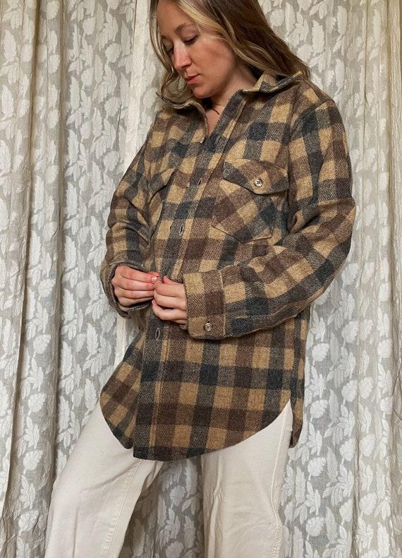 Vintage Woolrich plaid jacket | vintage wool jacke