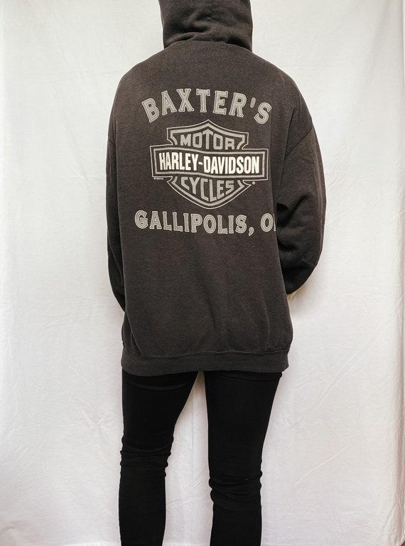 Vintage 1990s Harley Davidson zip up hoodie   Har… - image 7