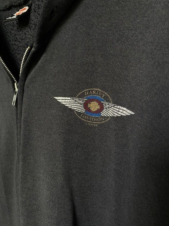 Vintage 1990s Harley Davidson zip up hoodie   Har… - image 9