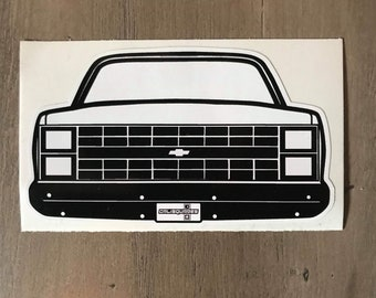2X Car silhouette stickers for Chevrolet C10 fleetside 1964-1966 classic truck