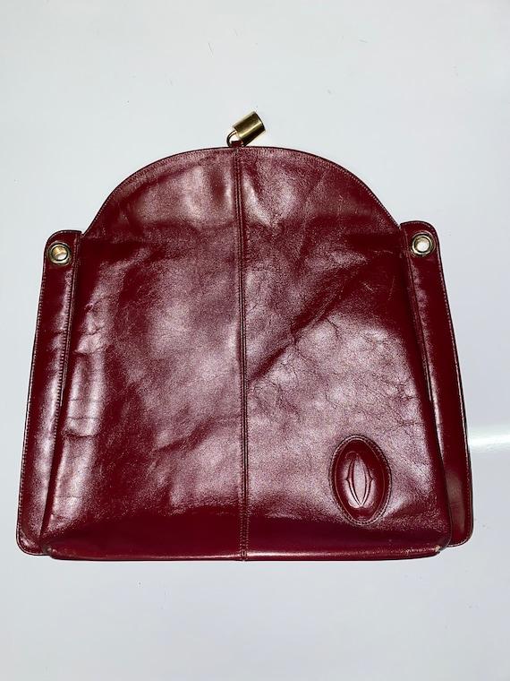 Cartier 1980's Vintage Leather Bag