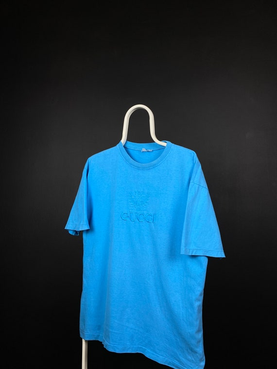 Vintage Gucci T-Shirt 1990's Embroidered Logo