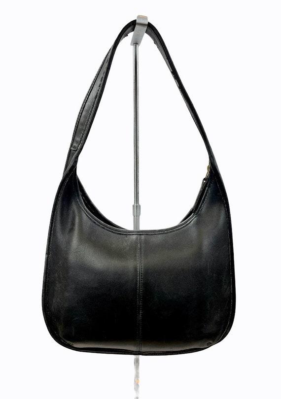 Vintage Coach Bag Ergo Zip Hobo Black Leather 9025