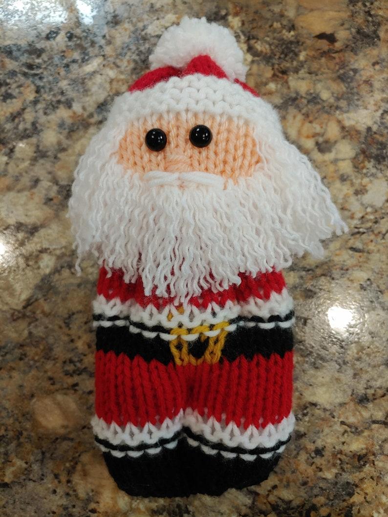 Loom Knitted Santa Claus