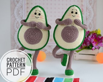 Baby Knitting Patterns Crochet Avocado Friend Doll Free Pattern ... | 270x340
