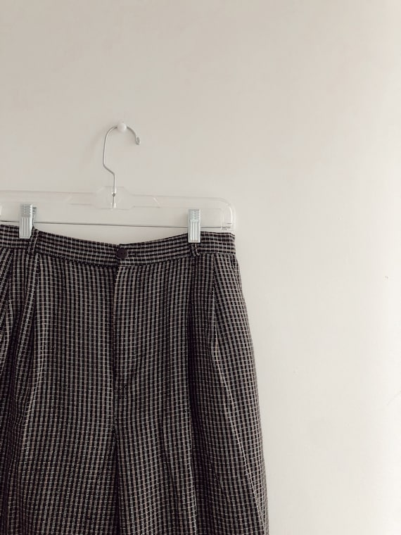 90s Vintage Y2k 2000s Wool Flannel Black Plaid Wor
