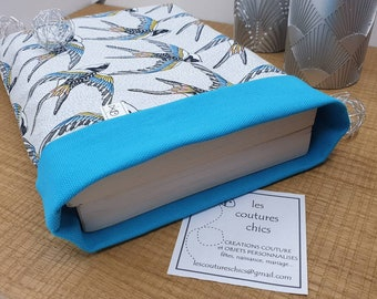 Book pouch, reversible fabric book pouch, master gift, nanny, atsem, avs