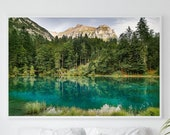 Pine Forest Wall Art, Pine Forest Wall Decor, Forest Print, Forest Poster, Forest Photo, Green Wall Art, Green Wall Decor Artwork, Blausee