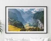 Spring Mountains Print, Wilderness Wall Art, Mountains Landscape Print, Mountain Wall Art, Waterfall Print, Landscape Photography, Wall Art