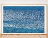 Birds Print - Printable Wall Art, Flying Birds Print, Flock Of Birds, Minimalist Decor, Seagull Print, Sea Print, Beach Photo, Seagull