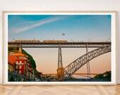 Portugal Art, Travel Wall Art, Portugal Prints, Porto Print, City Prints, City Wall Art, Train Print, Digital Wall Art, Cheap wall art