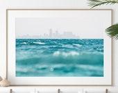 Ocean Print/ Beach Print/ Coastal Print/ Blue Water Print/ Tropical Print/ Wall Art/ Seascape Print/ Serene Print/ Ocean Waves Print/ JPG