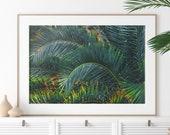 Palm print, Printable Wall Art, leaf print, palm leaf, leaf poster, botanical print, palm print, tropical leaves, palm leaves