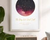 Personalized Star Map, Constellation Map, Custom Night Sky, Stars On Wedding, Celestial Map Art, Anniversary Gift, Custom Star Map By Date