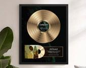 Personalized Gold Music Plaque, Custom Plaque, Music Award, Frame Award, Best Artist Award, Vinyl Record Plaque, Gold Framed Poster Award