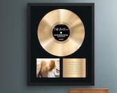 Personalized Birthday Gift, Vinyl Record Framed Print, Golden Birthday Gift, Best Friend Gift, Gift for Friend, 30th Birthday Gift for Her