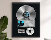 Personalized Music Plaque, Custom Plaque, Music Award, Frame Award, Best Artist Award, Vinyl Record Plaque, Framed Award Print, Music gift