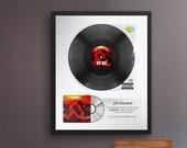 Personalized Music Plaque, Spotify Plaque, Music Award, Frame Award, Best Artist Award, Custom Vinyl Record, Framed Poster Award, Music Gift
