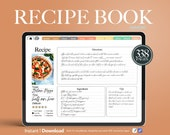 Digital recipe book Goodnotes, Hyperlinked Goodnotes Horizontal Planner, Recipe Planner, meal planner, goodnotes recipes, digital cookbook