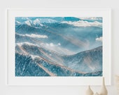 Mountains Print, Nordic Photography, Modern Landscape, Wall Art, Photography Poster, Scandinavian Decor, Photo Prints, Printable Wall Art