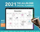 Digital planner 2021 - iPad Planner, Goodnotes planner, digital journal, daily digital planner, 2021 digital planner, Dated digital Planner