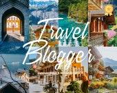 14 Travel Lightroom Mobile & Desktop presets, Blogger Filters, Lightroom Presets, Instagram Filters, Lightroom filters, Influencer Presets