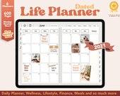2021 Digital Planner - Dated Life Planner, 2021 Planner, Goodnotes Planner, Notability Planner, Daily Planner, iPad Planner, Digital Journal