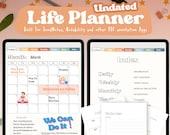 Undated Digital Planner - Undated Life Planner - Student Planner - Goodnotes Digital Planner - Printable Planner - iPad Planner