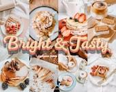 15 Food Presets for Bloggers, Mobile Lightroom Desktop Presets - Bright Preset, Retro Instagram Filters, Lightroom Mobile Presets