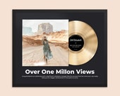 Personalized Music Plaque, Custom Plaque, Music Award, Frame Award, Best Artist Award, Vinyl Record Plaque, Framed Award Print, gift for her