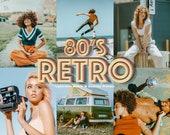 10 Retro Mobile Lightroom Desktop Presets - Vintage Instagram Filters, Hippie Preset, Old Photo Filter, Lightroom Mobile Preset Photo Filter