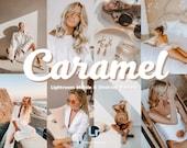 8 lightroom mobile & desktop presets, Caramel Retro Filters, Mobile Presets, Instagram Filters, Presets, lightroom filters, Retro preset