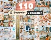 110 Lightroom Mobile & Desktop presets, Retro Filters, Film Presets, Instagram Filters, Lightroom filters, Vintage preset, LR Preset Bundle