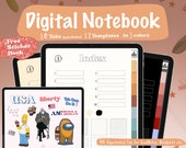 Digital Notebook, Hyperlinked Tabs, Bullet Journal, Goodnotes & Notability Planner, Digital Notes Template, Students Book, Student Planner